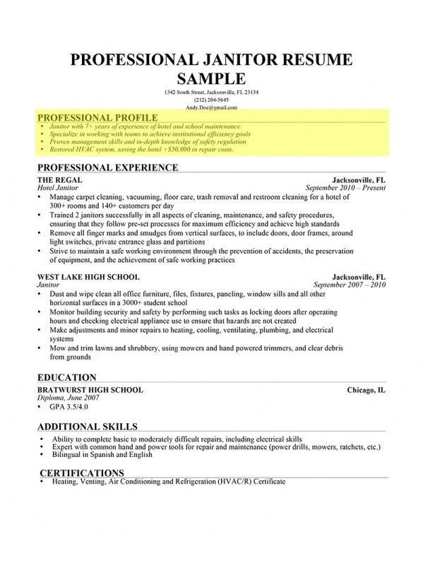 Resume Profile Examples. Nanny Resume - 8+ Free Sample, Example ...