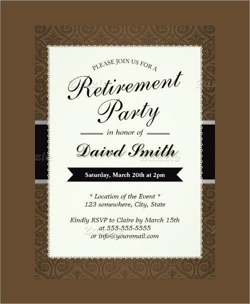 retirement invitation templates free download retirement party ...