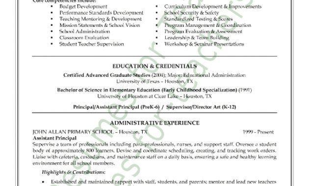 Sample Assistant Principal Resume | Samples.csat.co