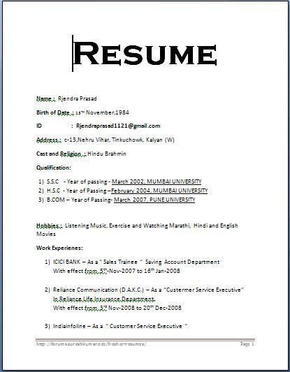 format or resume resume format write the best e. microsoft resume ...