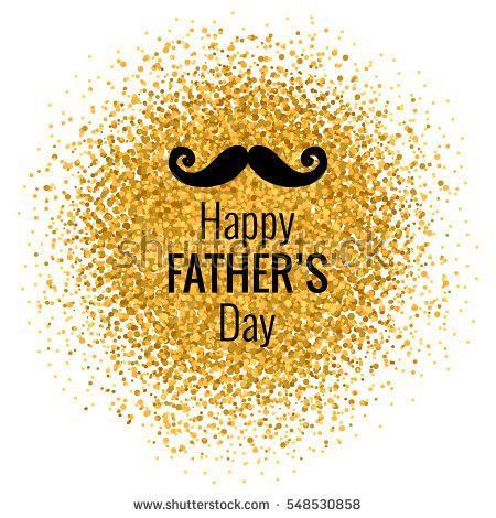 Vector Happy Fathers Day Phrase Mustaches Stock Vector 547763770 ...