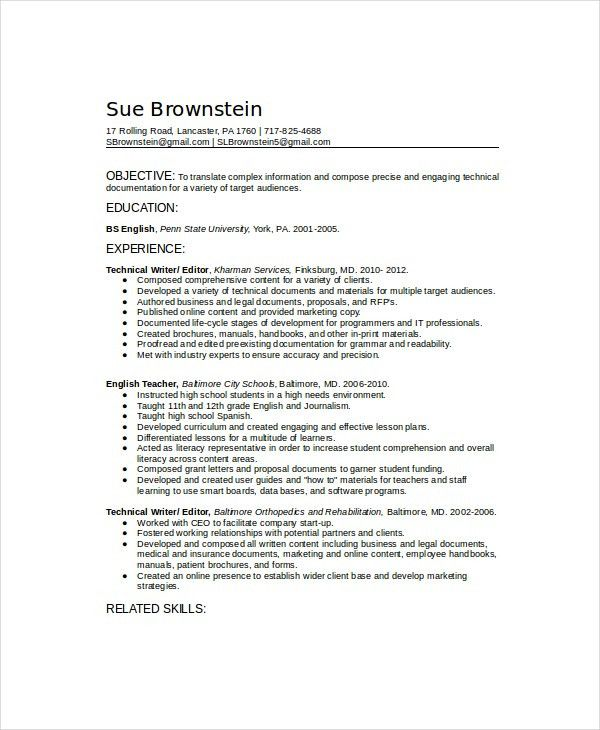 sample writer resume writer resume smart idea internship resume