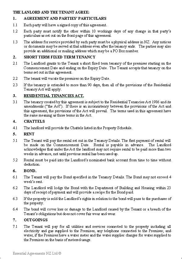Tenancy Contract Template. Tenancy Contract Template Rental ...