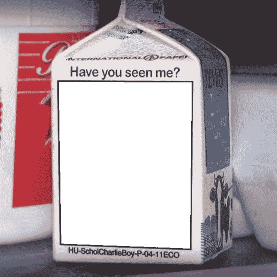 Milk Carton Missing Person Template Group (61+)