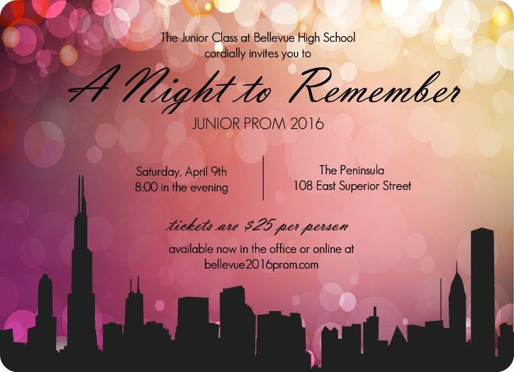 prom decorations idea | City Scape Prom Night Invitations ...