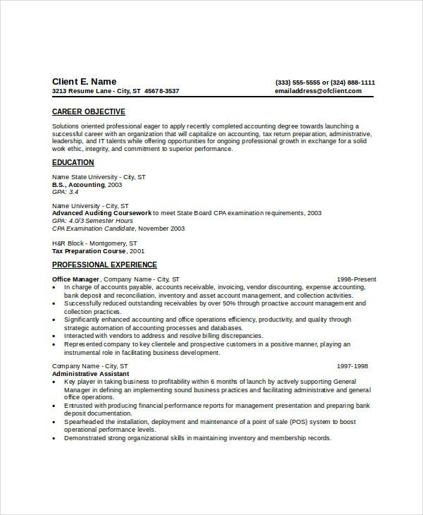 Wonderful Looking Entry Level Resume Template 3 9 Entry Level ...