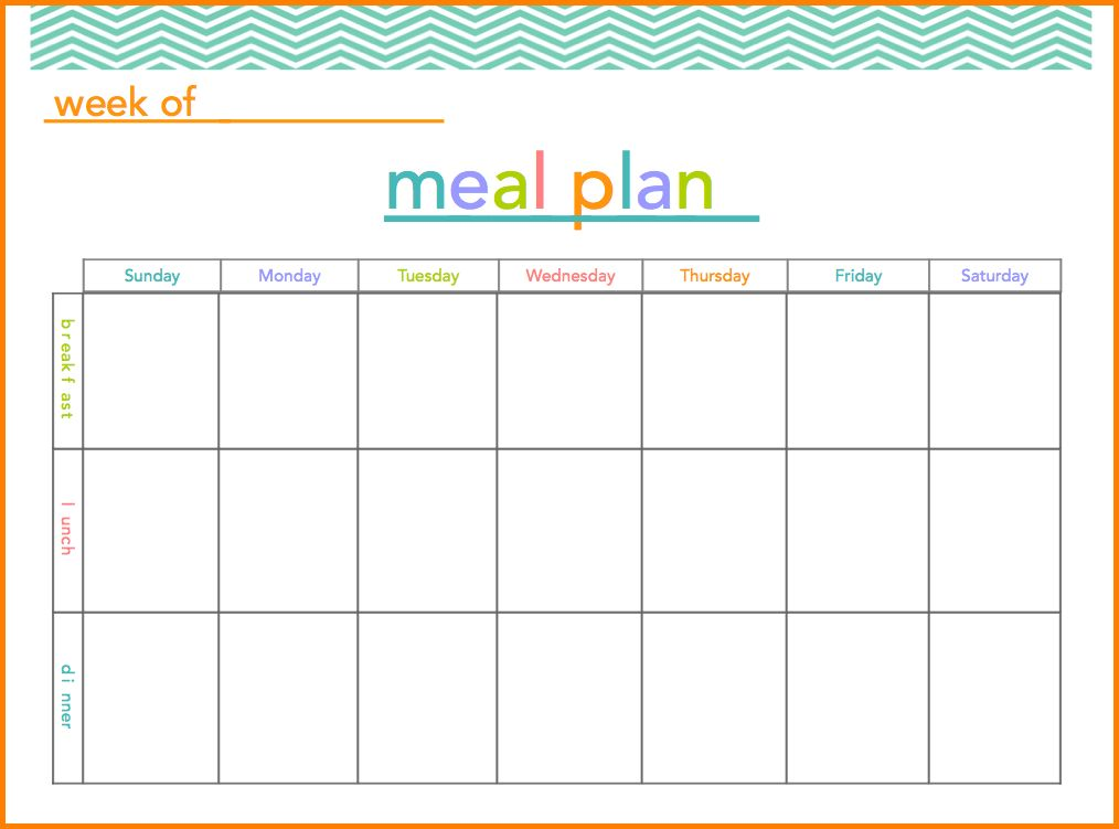 meal planning template 17download free documents in pdf. 20 free ...