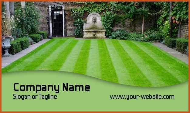 lawn care business cards   sop example