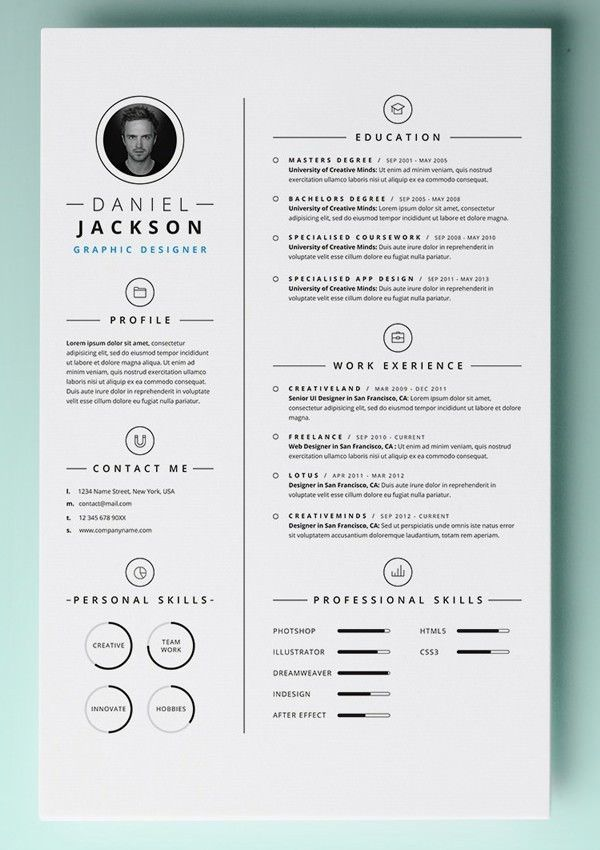 Resume Template Pages. Blank_Free_Cv_Template_4_Page1 ...