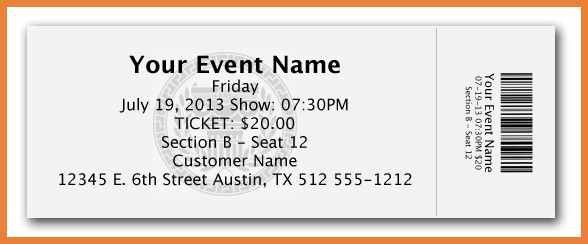 Fundraiser Tickets Template Free. best 20 ticket template ideas on ...