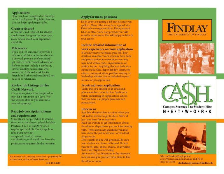 Cash Network Student Employment