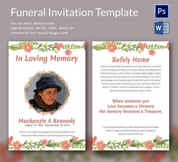 Memorial Card Template. Funeral Program Template Cross Theme ...