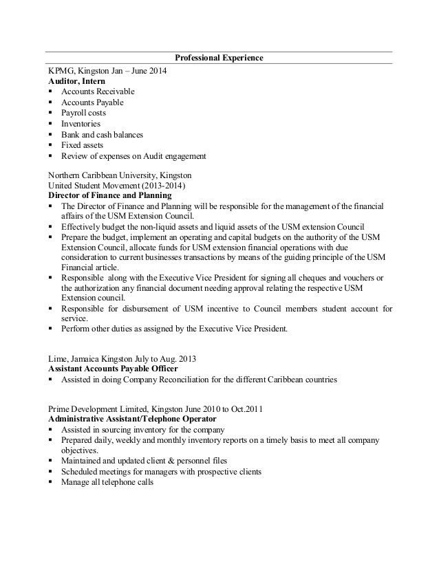 Kpmg Audit Resume Sample | Create professional resumes online for ...