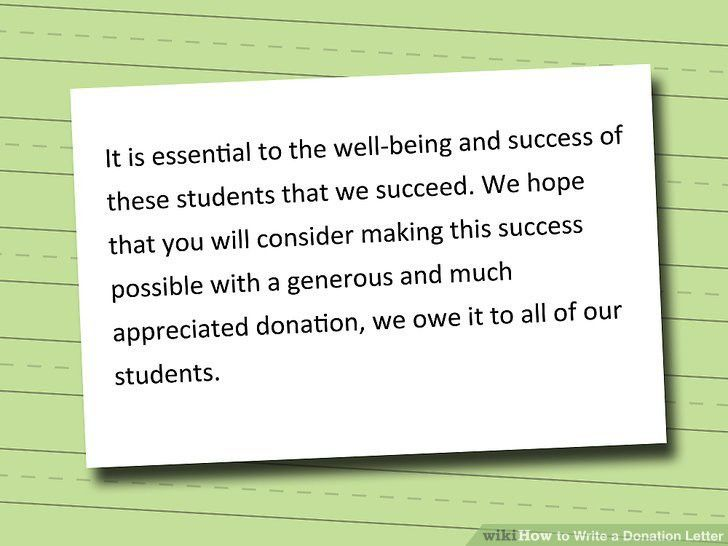 How to Write a Donation Letter: 9 Steps (with Pictures) - wikiHow