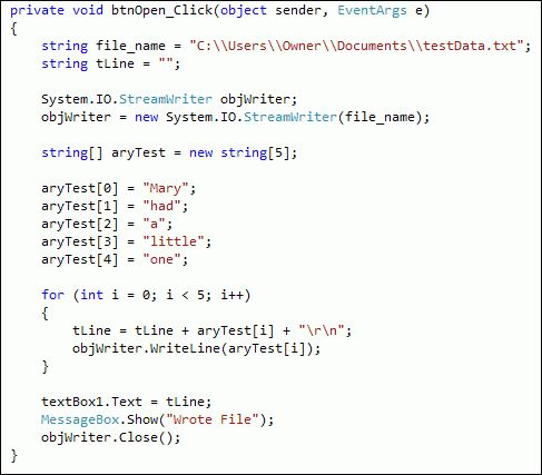 Example of C# code like I have written. | Things from my 40 year ...