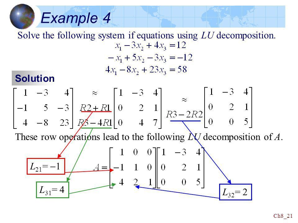 Chapter 8 Numerical Technique 大葉大學 資訊工程系 黃鈴玲 Linear ...