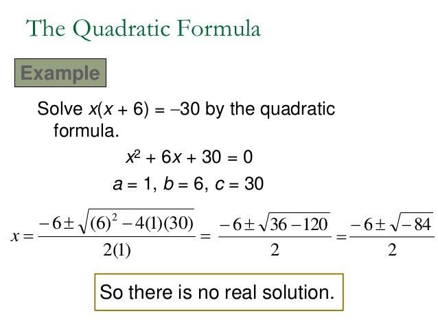 16.6 Quadratic Formula & Discriminant