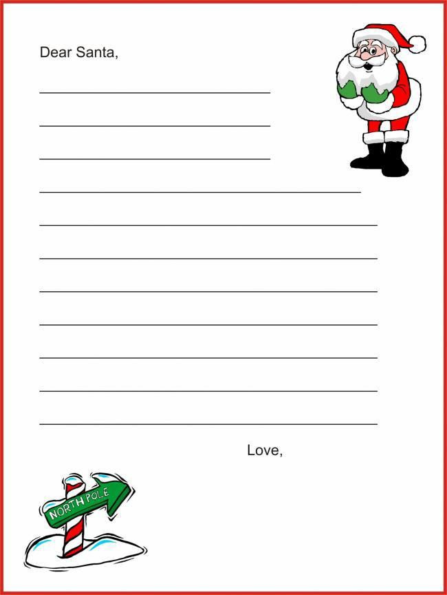 20 Free Printable Letters to Santa Templates | Spaceships and ...