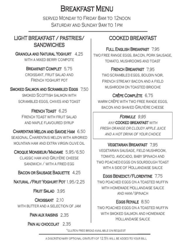 Breakfast Menu Template 2 Free Templates in PDF Word Excel : Selimtd