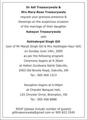 Sikh Wedding Invitation Wordings,Sikh Wedding Wordings,Sikh ...