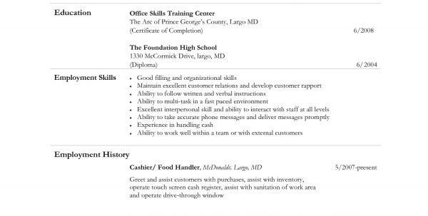 Food Service Cashier Job Description For Resume Fast Food Cashier ...