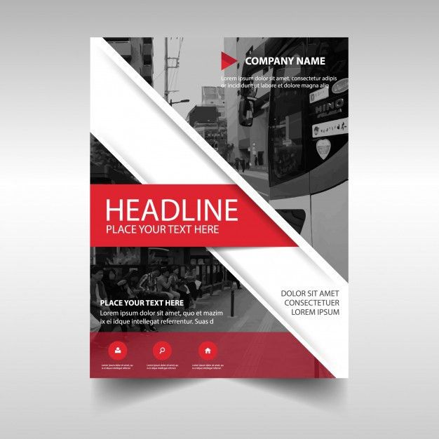 Abstract report cover template Vector | Free Download