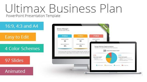 Ultimax Business Plan PowerPoint Template | Graphic Design Resources