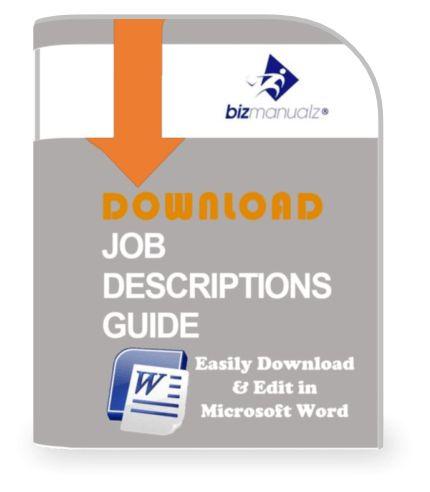 Job Description Templates | Business Job Descriptions