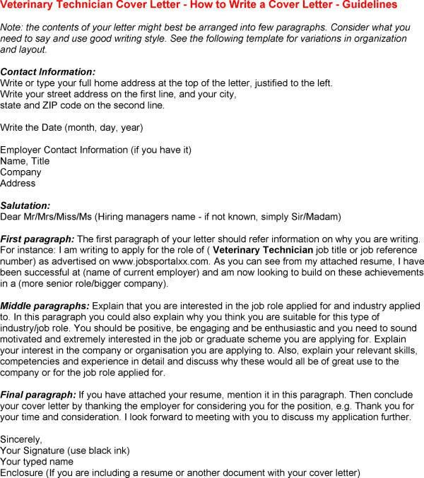 vet tech cover letter vet tech cover letter with Veterinary ...
