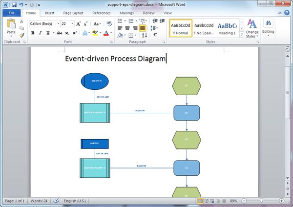 EPC Diagram Templates for Word