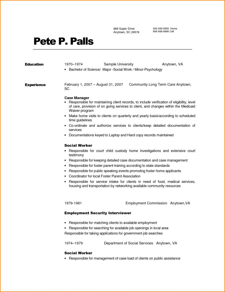 Pretty Sample Social Work Resume 9 Worker - Resume Example