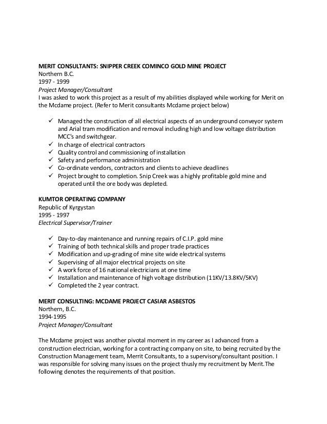 GARRY RESUME Red Seal industrial Electrician.