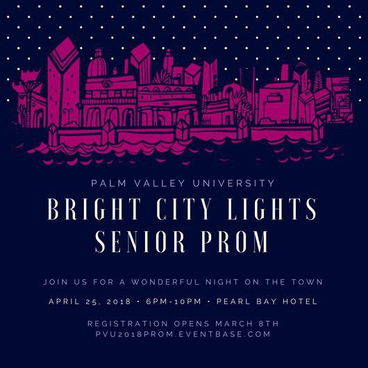 Bright City Lights Prom Invitation - Templates by Canva
