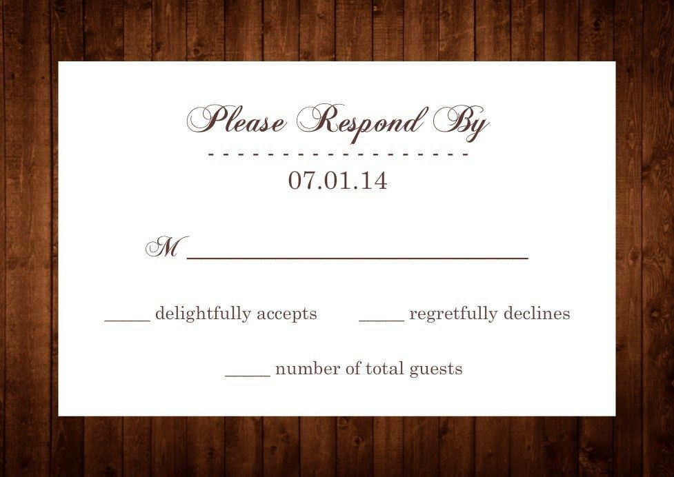 Rsvp To Wedding Invitation Wording #8581