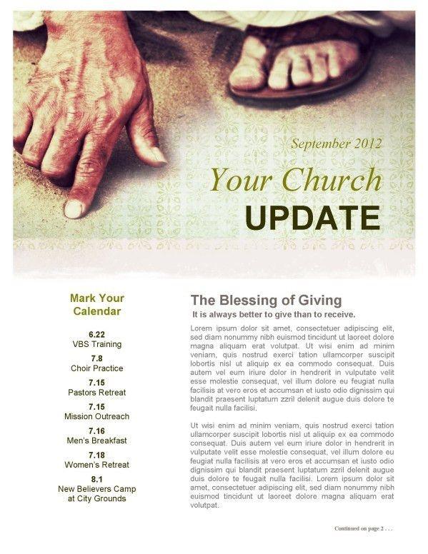 Maple Leaf Church Newsletter Template | Newsletter Templates