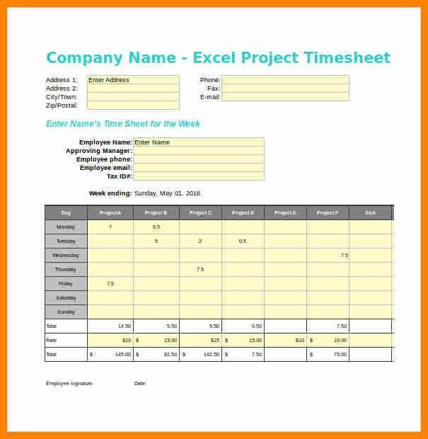 9+ timesheet template excel | exclusive resumes