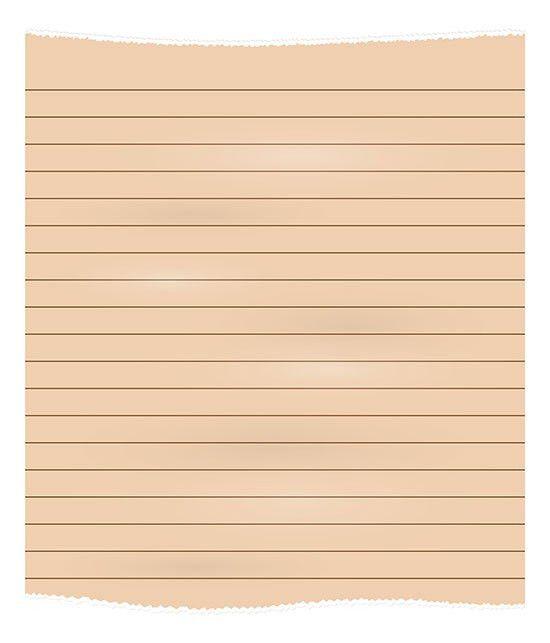 Download Free Single Line Notebook Paper Vector Illustration