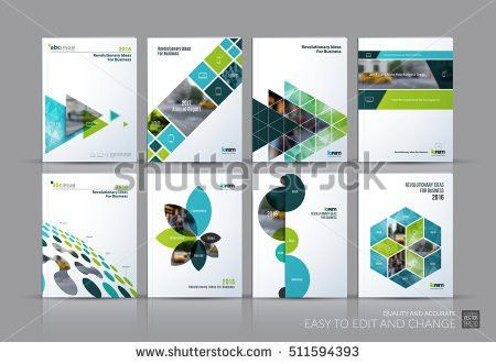 Brochure Annual Report Flyer Design Templates Stock Vector ...