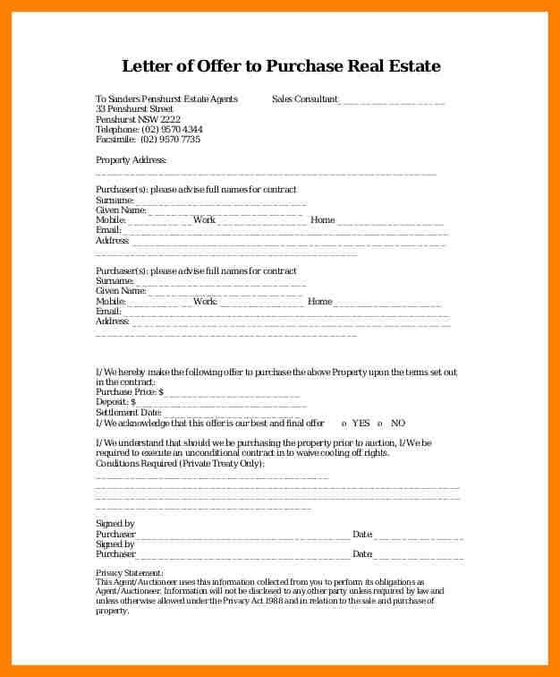 7+ real estate offer letter template | coaching-resume