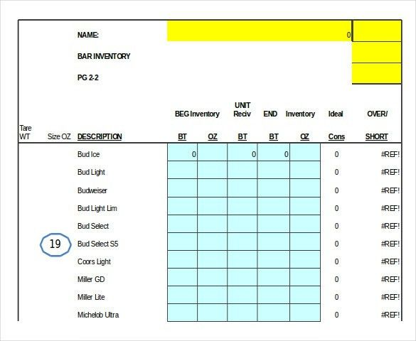 5+ Liquor Inventory Templates – Free Excel, PDF Documents Download ...