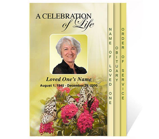 New Funeral Program Templates are Now Available at the ...
