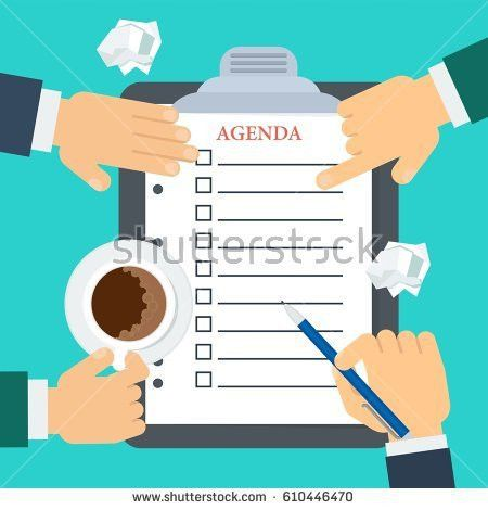 Businessmen Make Agenda Daily Routine Schedule Stock Vector ...