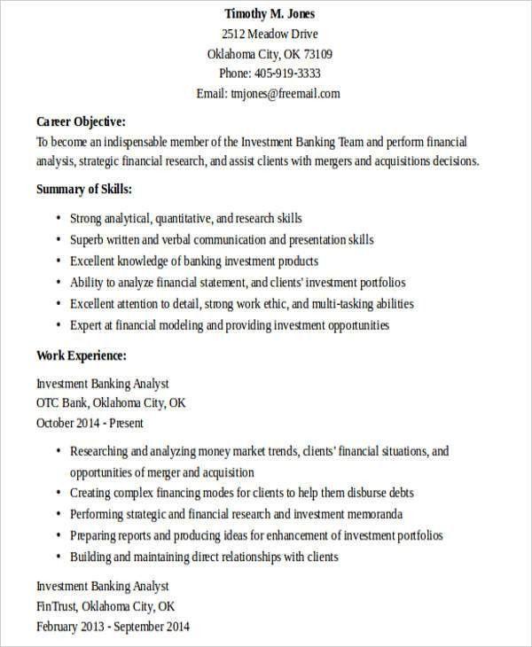 25+ Banking Resume Examples | Free & Premium Templates