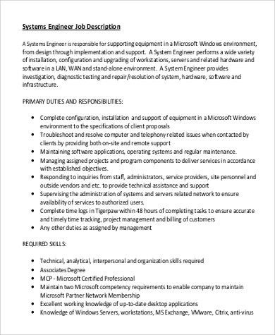 Application Engineer Job Description. Senior Applications Engineer ...