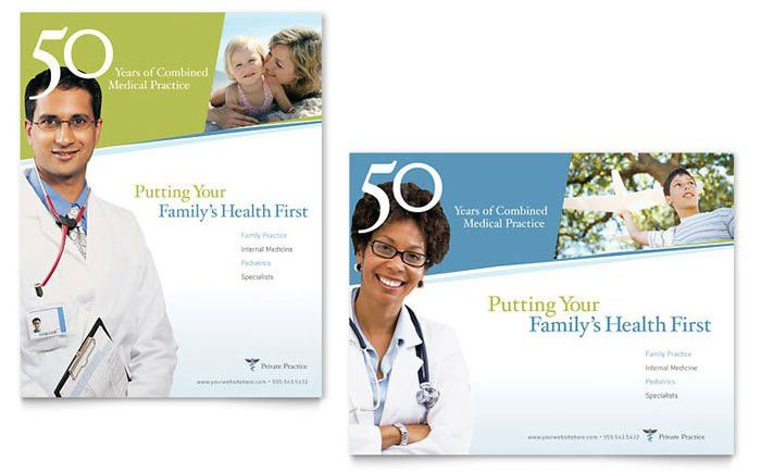 Family Physician Poster Template Design