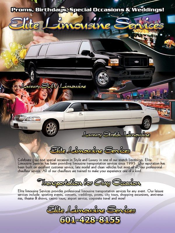 Limousine Flyers & Sell Sheets Printing & Design