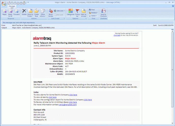 AlarmTraq™ Dynamic HTML Email Templates