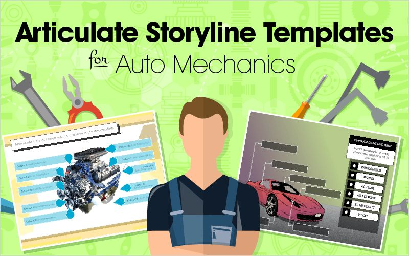 Articulate Storyline Templates for Auto Mechanics   eLearning Brothers