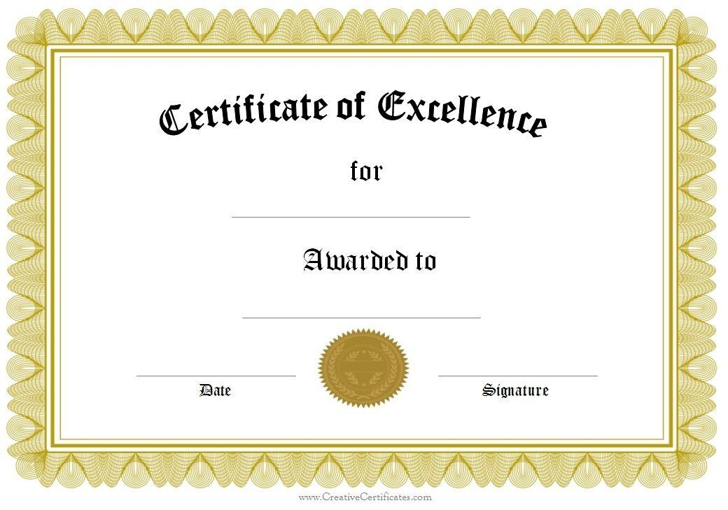 Formal Award Certificate Templates