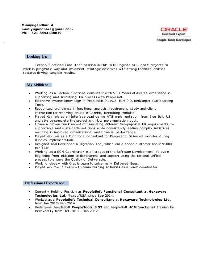 Peoplesoft Techno-Functional Consultant-Muniyugandhar A
